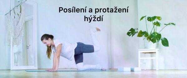 Jógové cviky na posílení a protažení hýždí